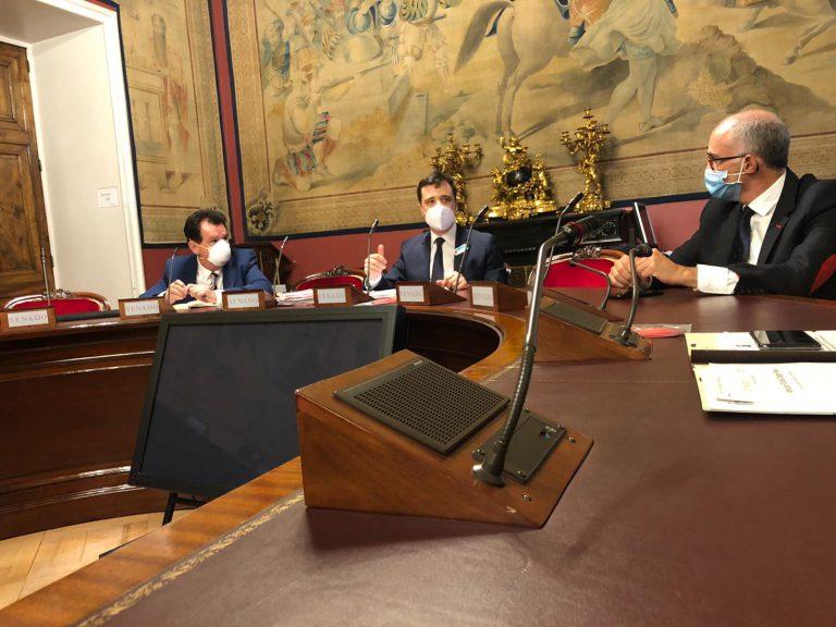 S Ballesteros y JA Remírez (a la izquierda) en el Senado
